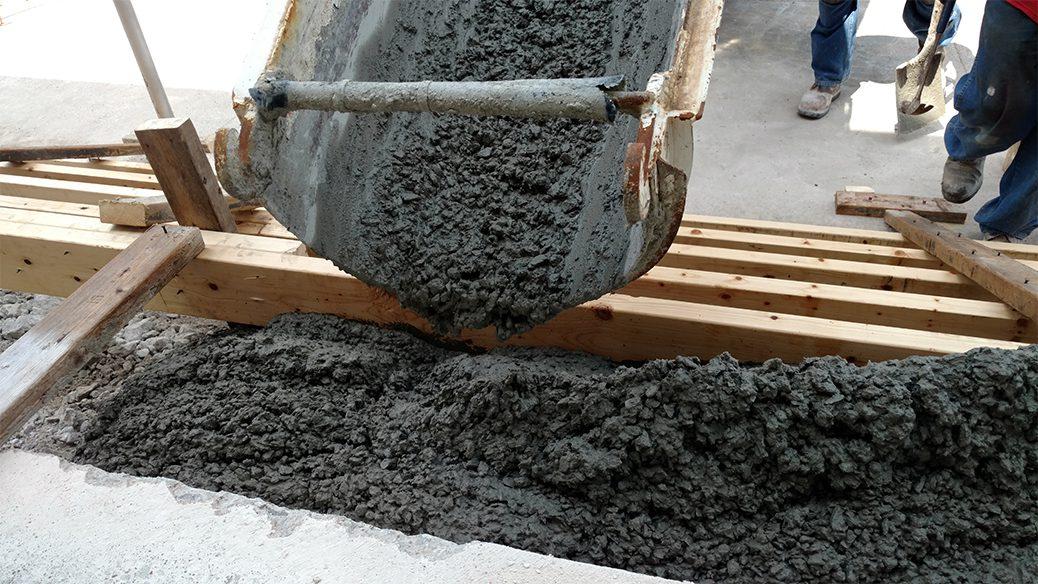 Mixing Concrete for concrete parking lot repairs Nashville TN