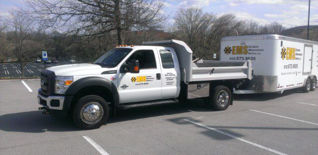 Truck and equipment for asphalt paving Nashville TN